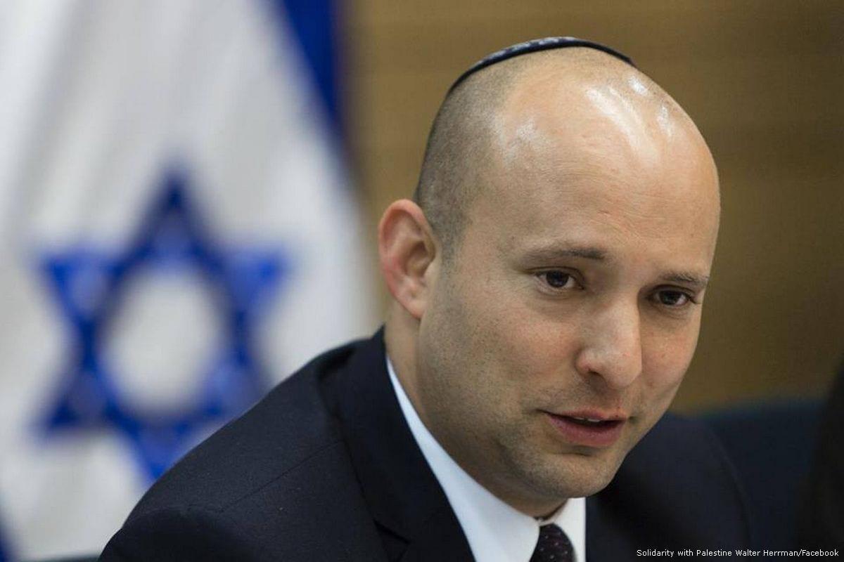 Israeli Education Minister, Naftali Bennett [Solidarity with Palestine Walter Herrman/Facebook]