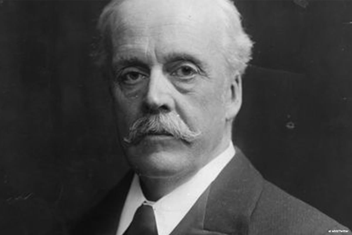 Lord Arthur James Balfour, former Prime Minister of the UK [al whit/Twitter]