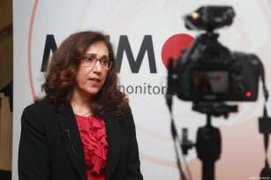 Prof. Madawi Al-Rasheed at MEMO's 'Saudi in Crisis' conference, on November 19, 2017 [Middle East Monitor]
