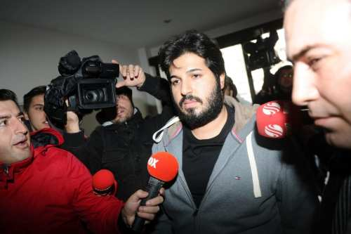 Iran-born Turkish gold trader Reza Zarrab seen in Istanbul on 17 December 2013 [Ozan Kose/AFP]