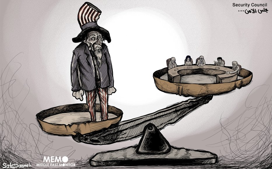 The UN is (Security Council) another lost battle for the Palestinians - Cartoon [Sabaaneh/MiddleEastMonitor]