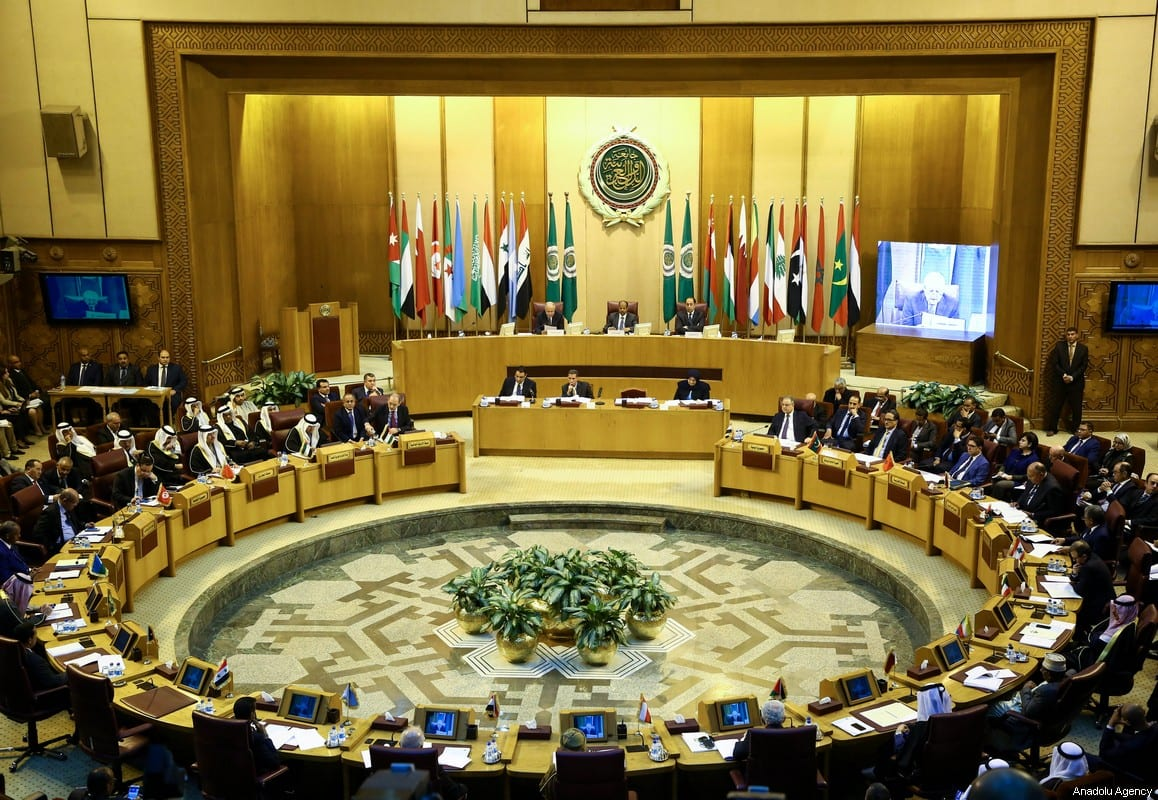 General view of Arab League foreign ministers emergency meeting in the Egyptian capital Cairo on 9 December, 2017 [Stringer/Anadolu Agency]