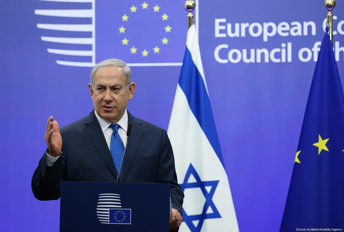 Israeli Prime Minister Benjamin Netanyahu in Brussels, Belgium [Dursun Aydemir/Anadolu Agency]