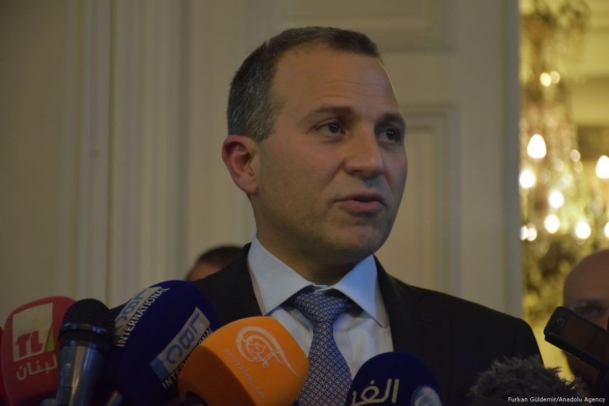 Lebanese Foreign Minister Gebran Bassil in Beirut, Lebanon on 19 December 2017 [Furkan Güldemir/Anadolu Agency]