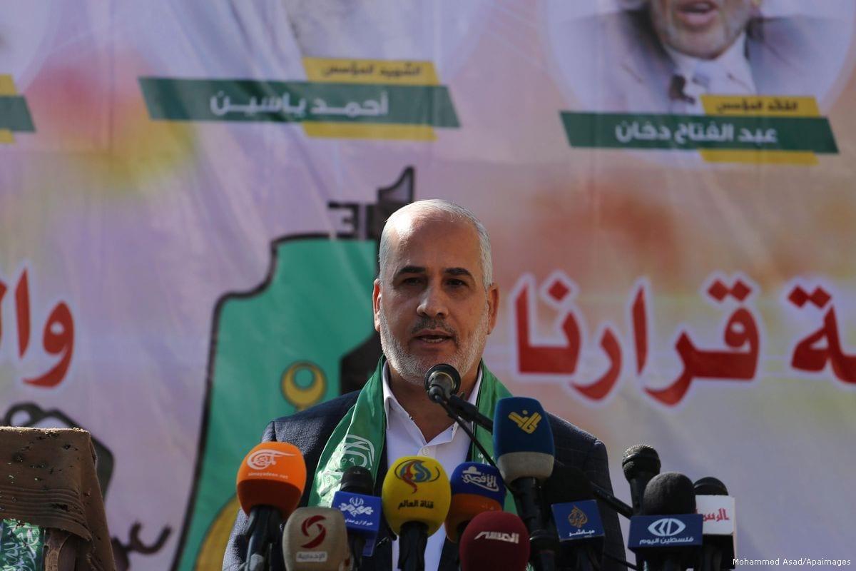 Fawzi Barhoum, Hamas spokesman [Mohammed Asad/Apaimages]