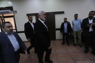 Hamas leader Ismail Haniyeh calls for a new intifada in support of Jerusalem following US President Donald Trump's decision to recognise the city as the capital of Israel [Mohammed Asad/Middle East Monitor]