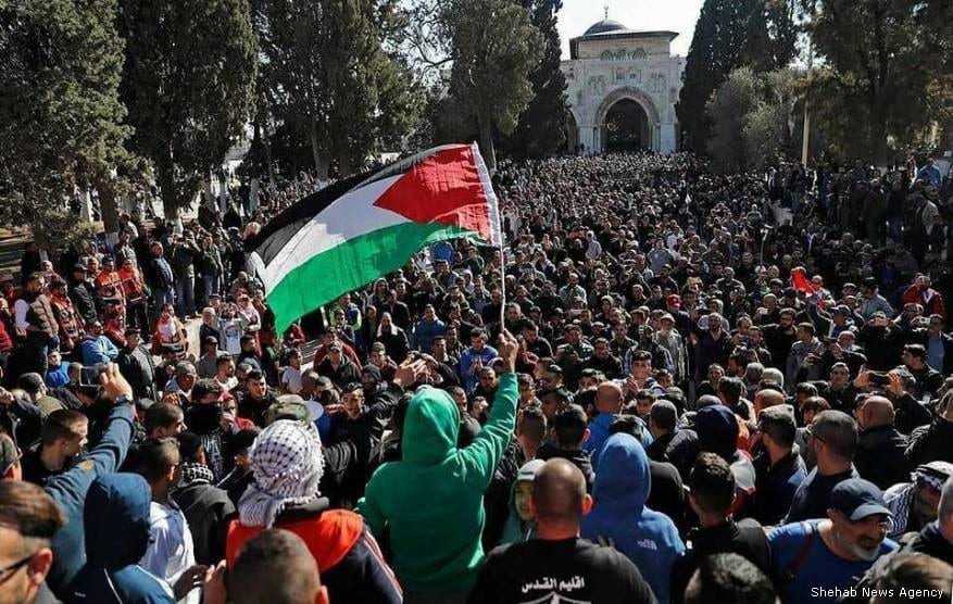 Protests at Al-Aqsa Mosque [Shehab News Agency]
