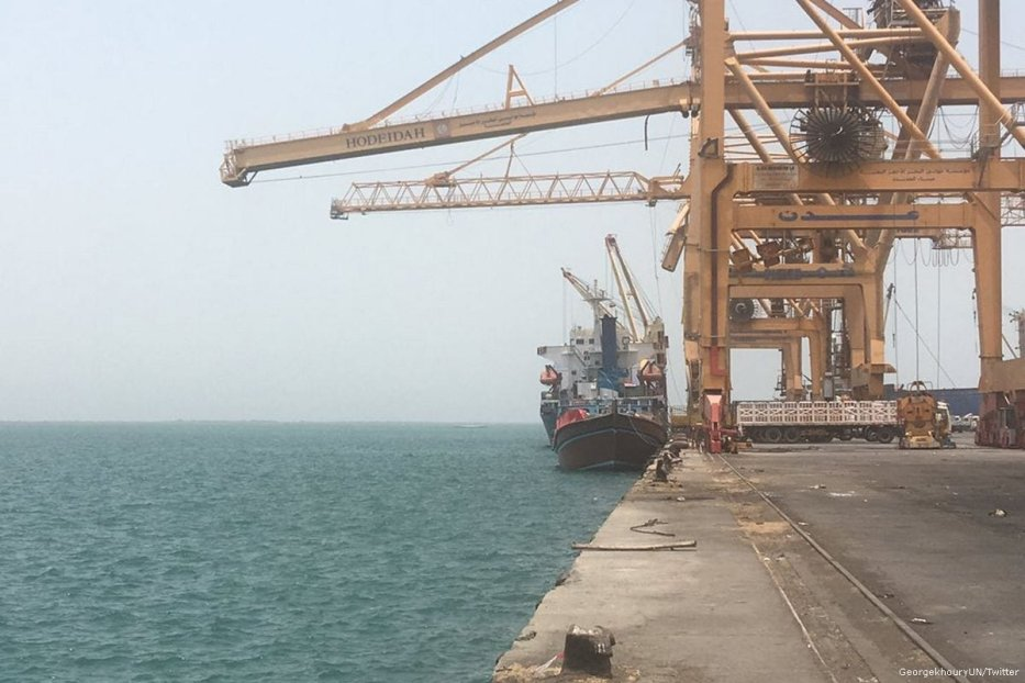 Hudaydah port in Yemen [GeorgekhouryUN/Twitter]