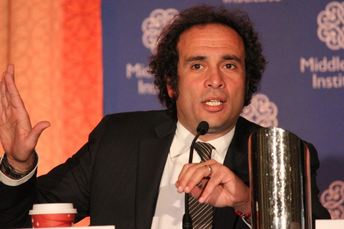 Amr Hamzawy, assistant professor at the Faculty of Economics and Political Science, seen at the 66th Annual Conference of the Middle East Institute on November 2012 [Monica Ibrahim / SHF Wire]