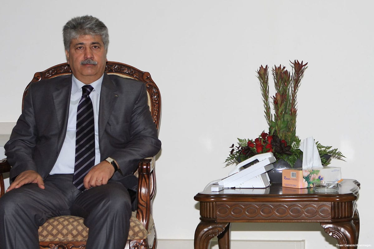 Executive committee member at the Palestinian Liberation Organisation (PLO), Ahmad Majdalani [Thaer Ganaim/Apaimages]