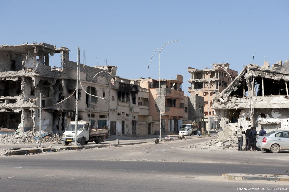 Buildings can be seen in ruin after heavy fighting between revolutionaries and pro regime in Sirte, Libya on 23 January 2012 [European Commission DG ECHO/Flickr]