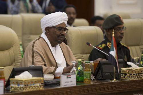 President of Sudan Omar Al-Bashir (L) seen during a meeting with a Turkish delegaiton in Khartoum, Sudan on December 24, 2017 [Binnur Ege Gürün / Anadolu Agency]