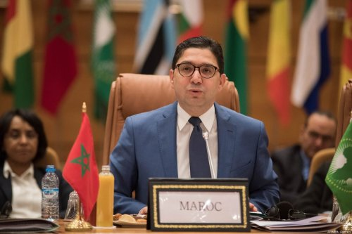 Minister of Foreign Affairs of Morocco Nasser Bourita addresses during the Ministerial Conference for an African Agenda on Migration in Rabat, Morocco on January 09, 2018 [Jalal Morchidi / Anadolu Agency]