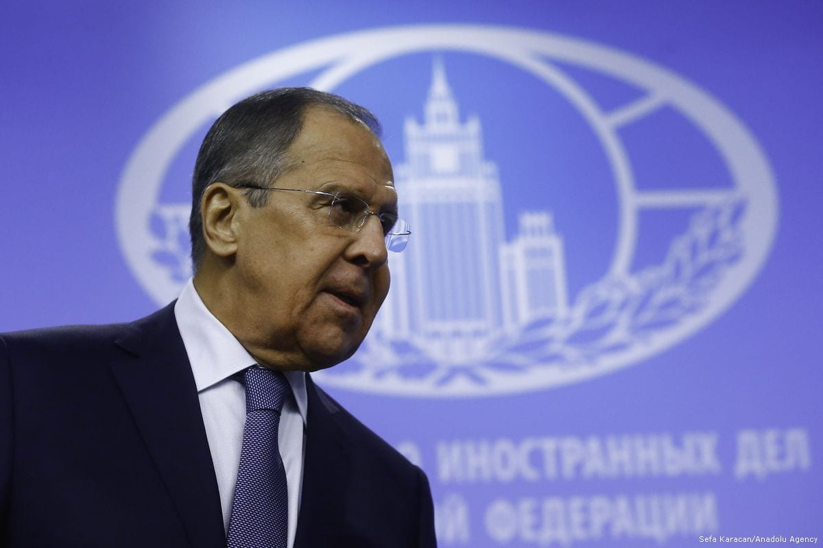 Russian Foreign Minister Sergey Lavrov attends the annual press conference at the Russia Foreign Ministry Conference Hall in Moscow, Russia, on 15 January 2018 [Sefa Karacan/Anadolu Agency]