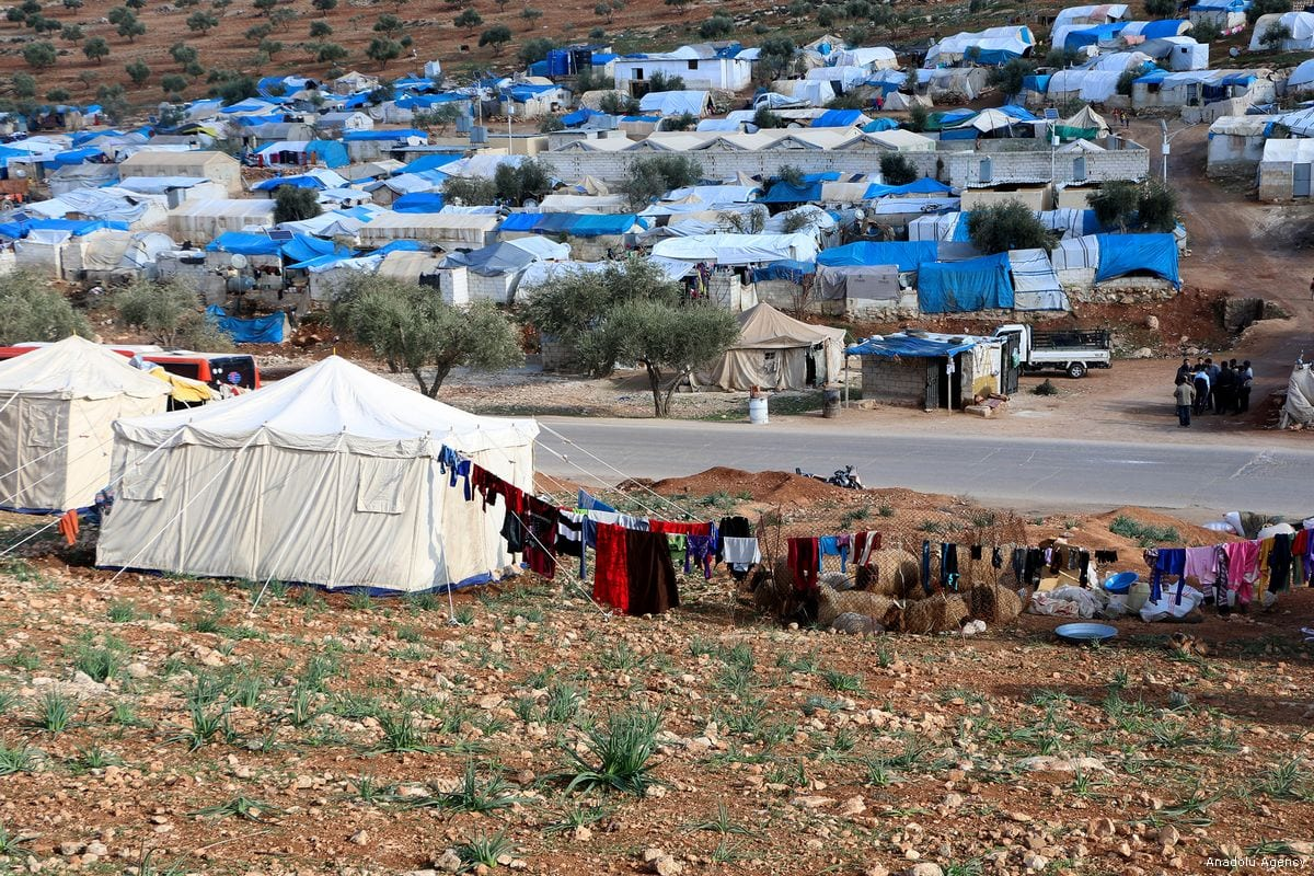 Overview of refugee camps that host thousands of war victims who fled from their homeland due to ongoing civil war in Syria [Muhammed Abdullah/Anadolu Agency]