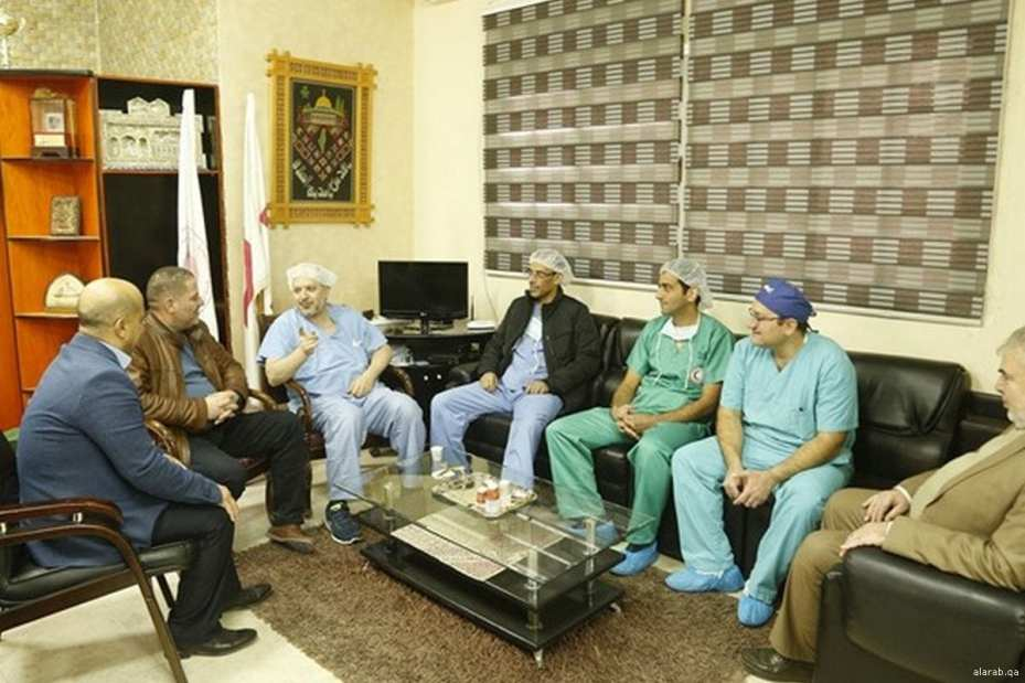 Qatar medical team in Gaza [Alarab.qa]