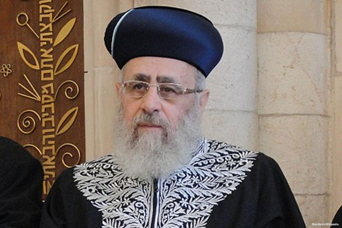 Israel's chief rabbi calls Afro-Americans 'monkeys' – Middle