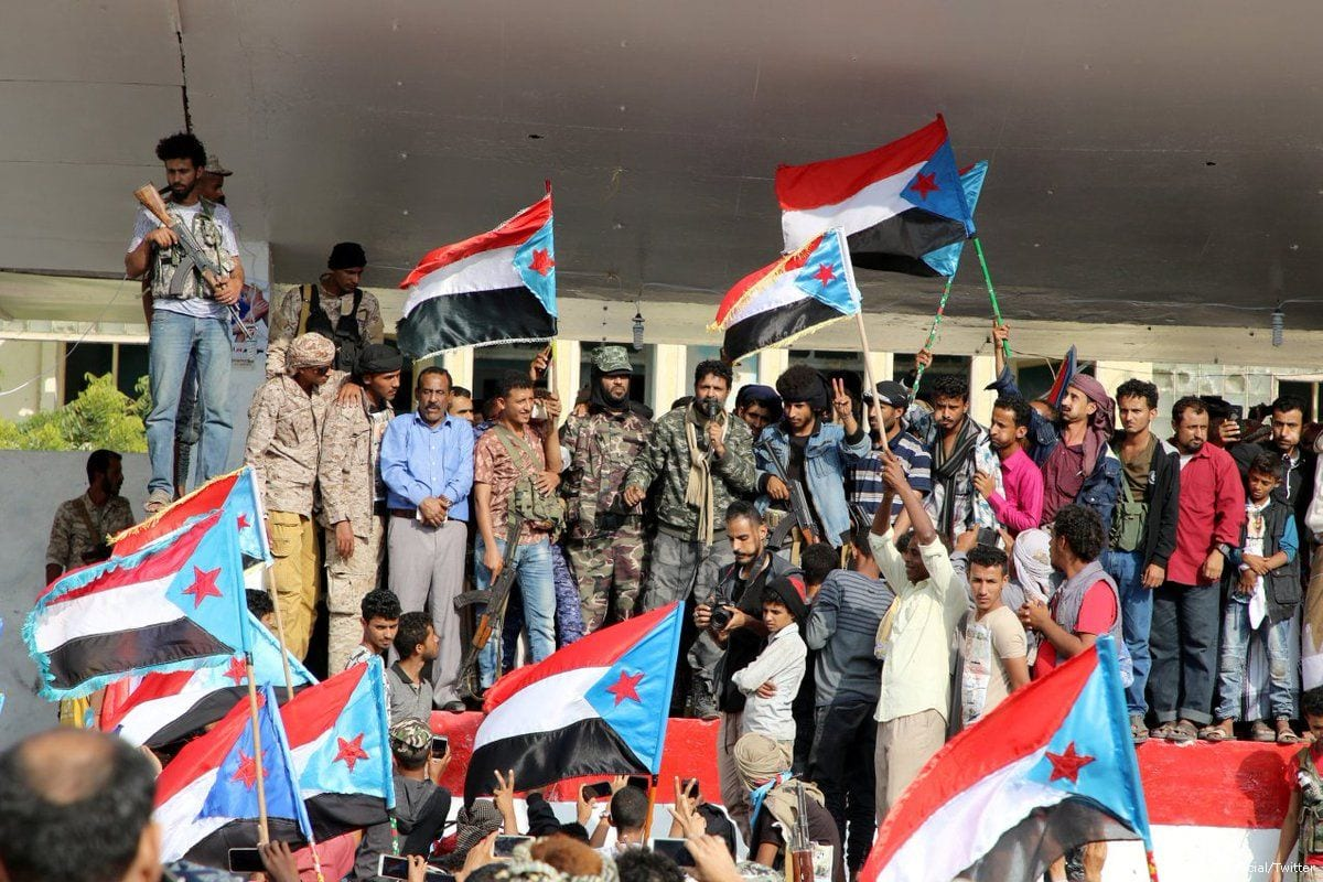 Yemenis attend a support rally for the UAE-backed Southern Transitional Council [CGTNOfficial/Twitter]