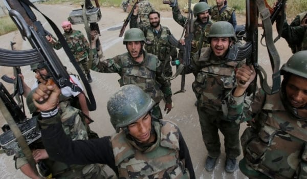 Syrian government forces in northern Hama