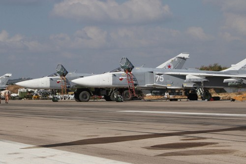 Fighter jets seen at the Russian Air Force's Hmeimim airbase in Syria [File photo, Sputnik]