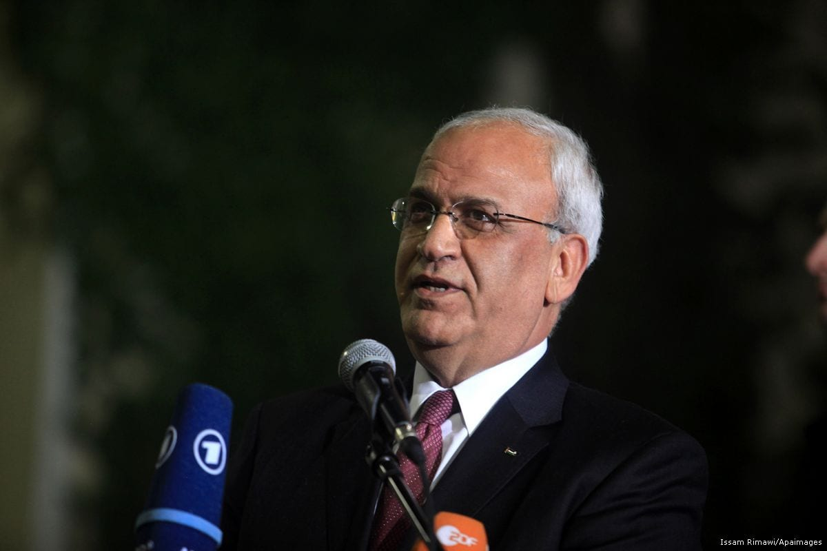 Chief PLO negotiator Saeb Erekat