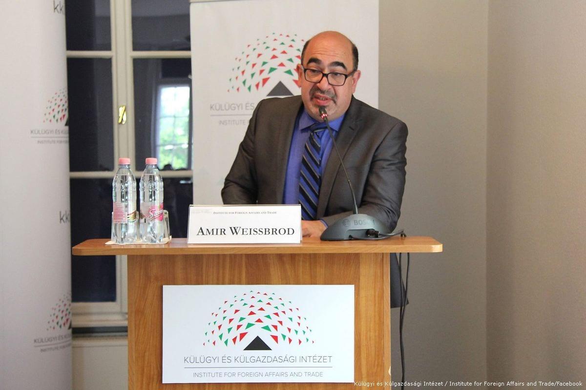 Middle East specialist Amir Weissbrod [Külügyi és Külgazdasági Intézet / Institute for Foreign Affairs and Trade/Facebook]