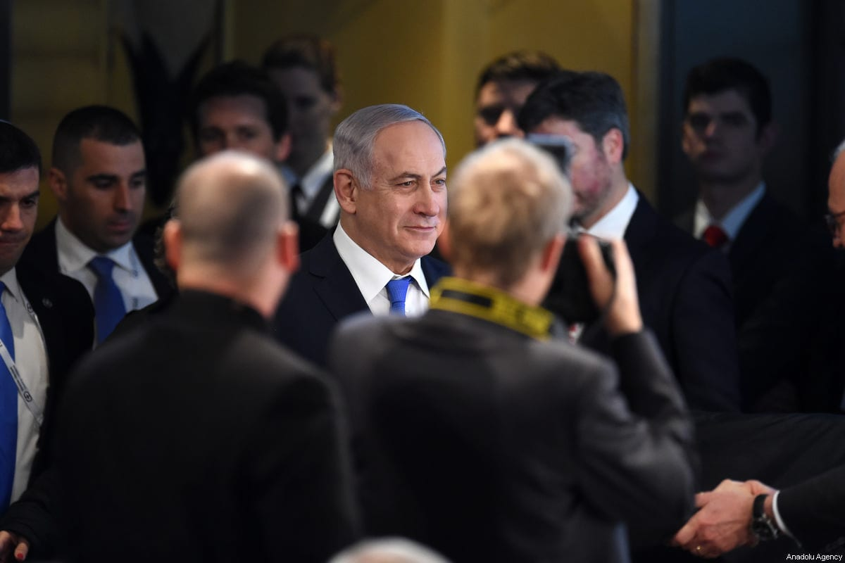 Israeli Prime Minister Benjamin Netanyahu arrives at the 54th Munich Security Conference (MSC) at Hotel Bayerischer Hof in Munich, Germany on 18 February, 2018 [Andreas Gerbert/Anadolu Agency]