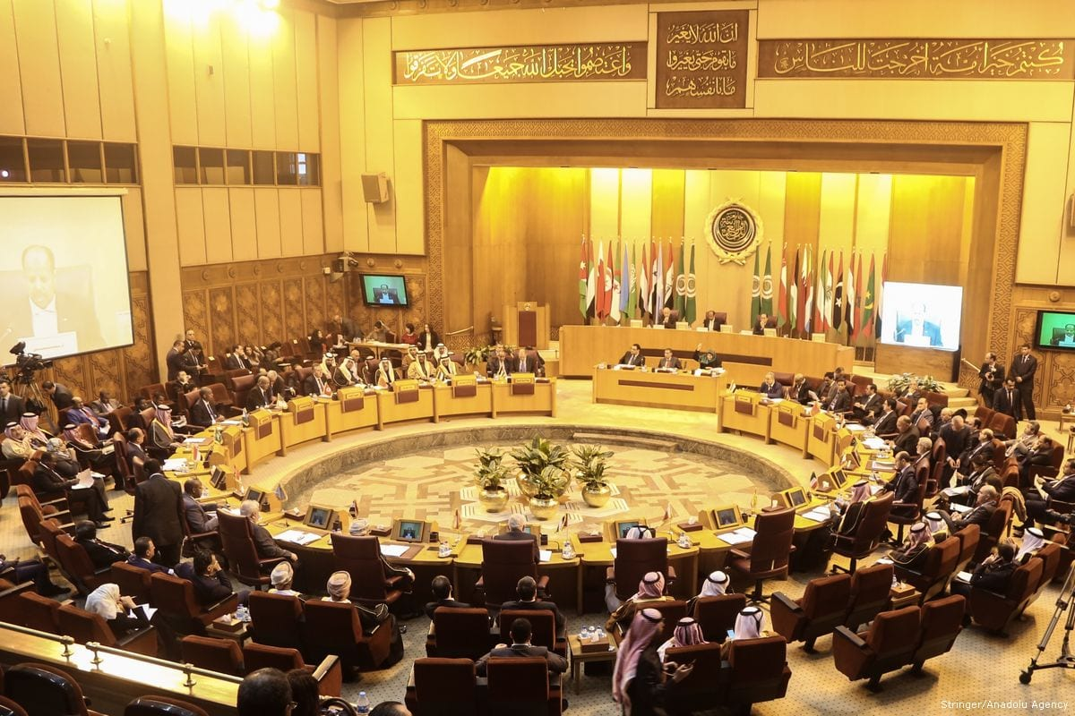 Arab Foreign Ministers meet to discuss the US President Donald Trump's decision to recognise Jerusalem as Israel's capital in Cairo, Egypt on 1 February 2018 [Stringer/Anadolu Agency]