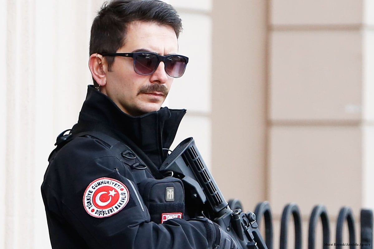 Turkish security police [Kayhan Özer/Anadolu Agenc]