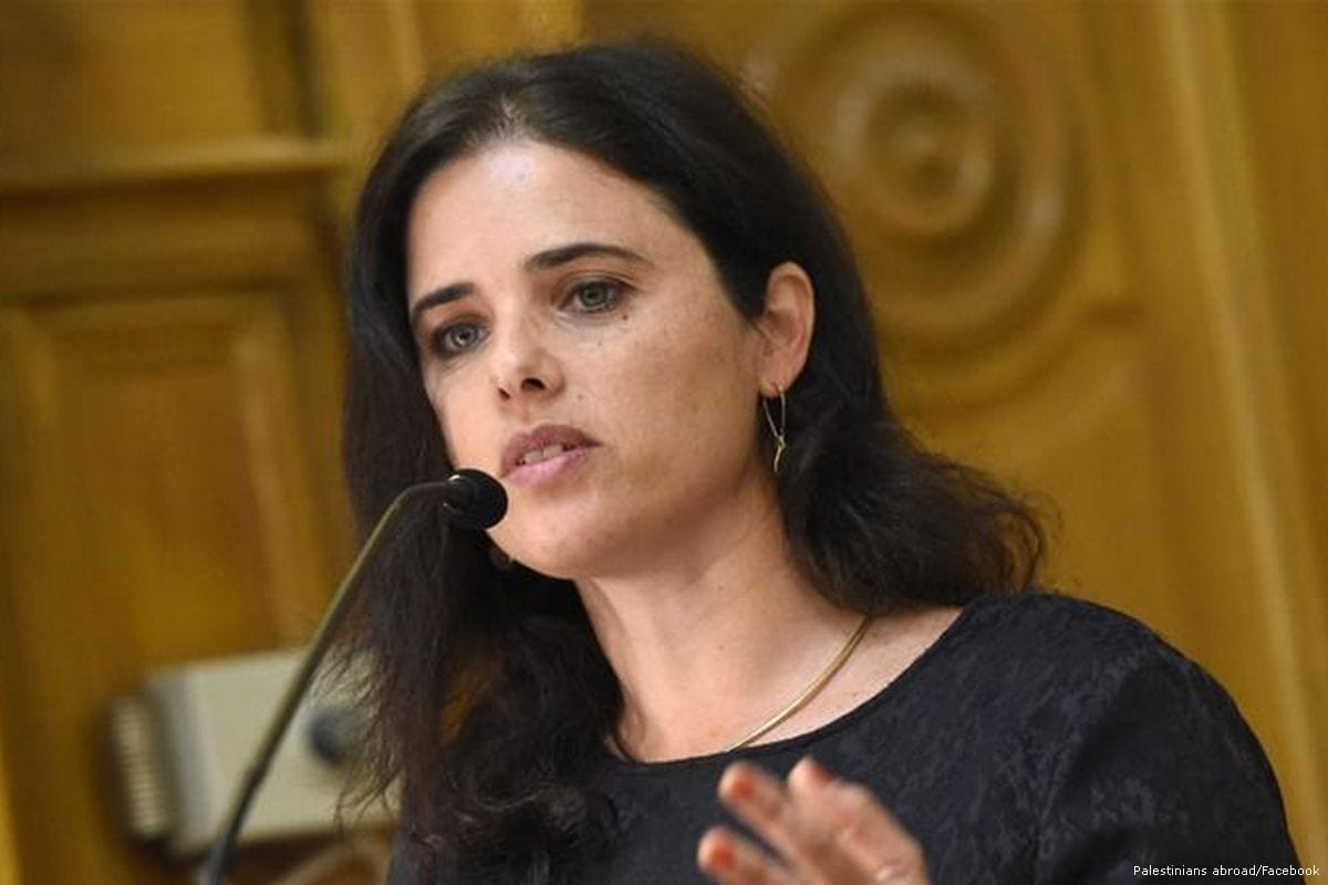 Ayelet Shaked, Israel's Justice Minister of the far-right Jewish Home party [Palestinians abroad/Facebook]