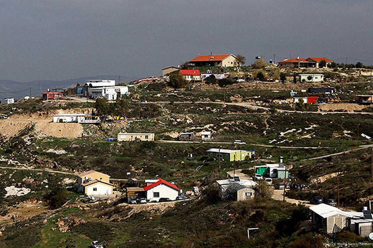 The illegal Havat Gilad settlement [Yeshiva World News/Twitter]