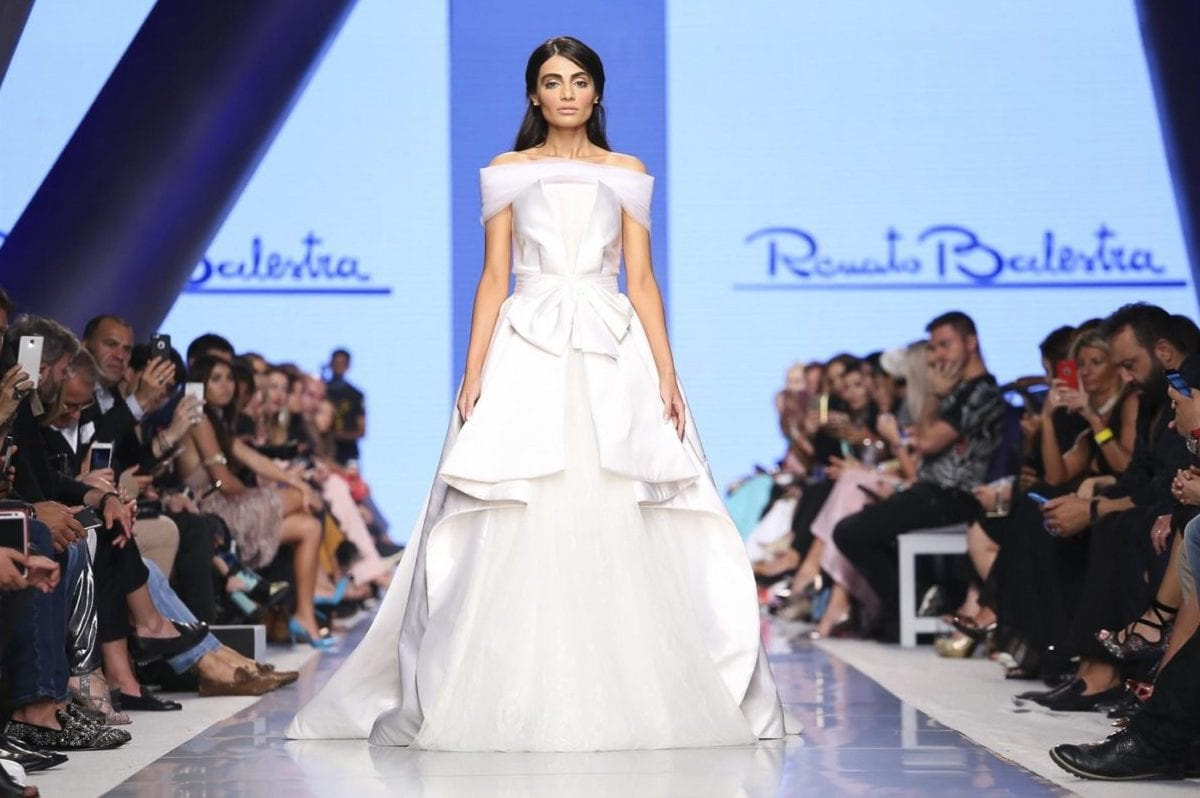Renato Ballestra Resort 2018 Collection, seen at the Arab Fashion Week, Dubai on May 23, 2017 [aeworld.com]