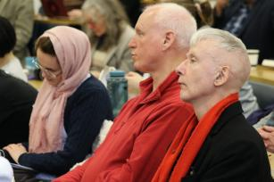 Audience seen at Book Launch of Ramzy's Baroud latest book - The Last Earth: A Palestinian Story on 27 March, 2018 [Jehan Alfarra/Middle East Monitor]