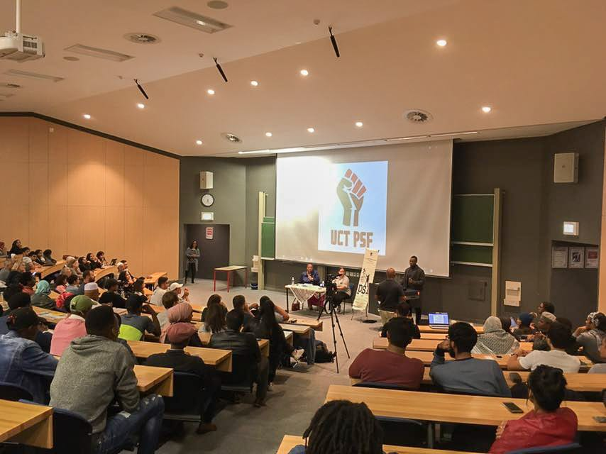 Speaking at an Israeli Apartheid Week event at the University of Cape Town, South Africa's Minister of Higher Education Naledi Pandor called on students to lobby for the issue of Palestine to be included in BRICS' agenda [Abdulaziz Abubakr/Middle East Monitor]