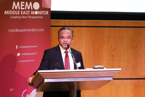 Dr Nasharudin Mat Isa at Middle East Monitor's 'Jerusalem: Legalising the Occupation' conference in London, UK on March 3, 2018 [Jehan Alfarra/Middle East Monitor]