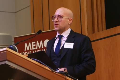 Hugh Miles, at MEMO's 'Saudi in Crisis' conference, on November 19, 2017 [Middle East Monitor]