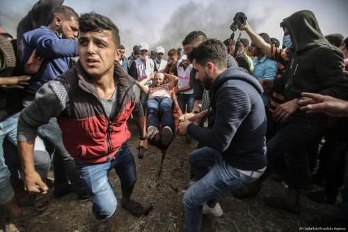 2 dead, dozens injured as Gaza protests continue for fourth week