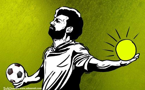 Mohamed Salah, Egyptian football player - Cartoon [Sabaaneh/MiddleEastMonitor]