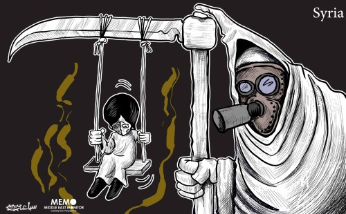 Chemical attack on Syria - Cartoon [Sabaaneh/MiddleEastMonitor]