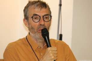 Michel Plazanet, Deputy Director of CNC at the Palestinian Film Festival in Paris, France [Jehan Alfarra/Middle East Monitor]