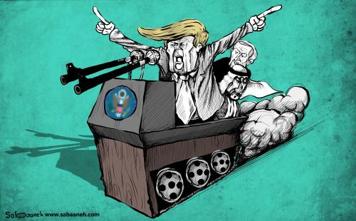 Iran Deal - Cartoon [Sabaaneh/MiddleEastMonitor]