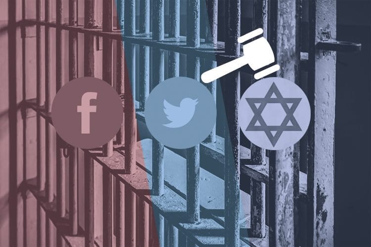 Israel Social Media - Facebook Twitter Convictions