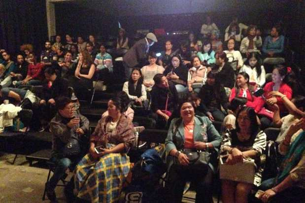 Activists from the group Alliance of Migrant Domestic Workers in Lebanon come together