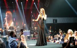 Famous Lebanese singer Nancy Ajram in Istanbul [Hilal Uştuk/Anadolu Agency]