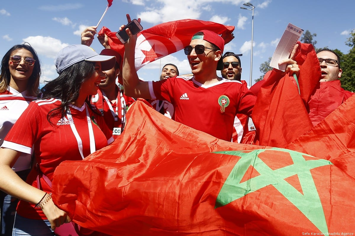 Fans are seen before the 2018 FIFA World Cup between Portugal and Morocco in Russia on 20 June 2018 [Sefa Karacan/Anadolu Agency]