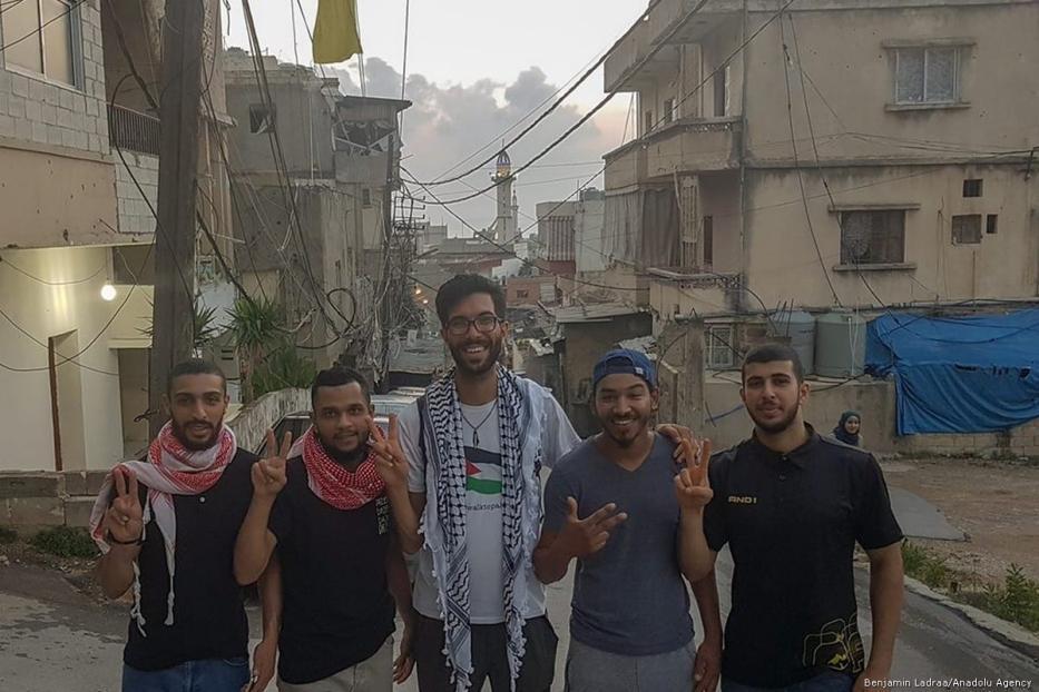 Swedish activist Benjamin Ladraa in Lebanon [Benjamin Ladraa/Facebook]