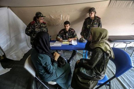 Moroccan field hospital opens on 12 June 2018 in the besieged Gaza Strip to help treat Palestinians wounded during the Great March of Return