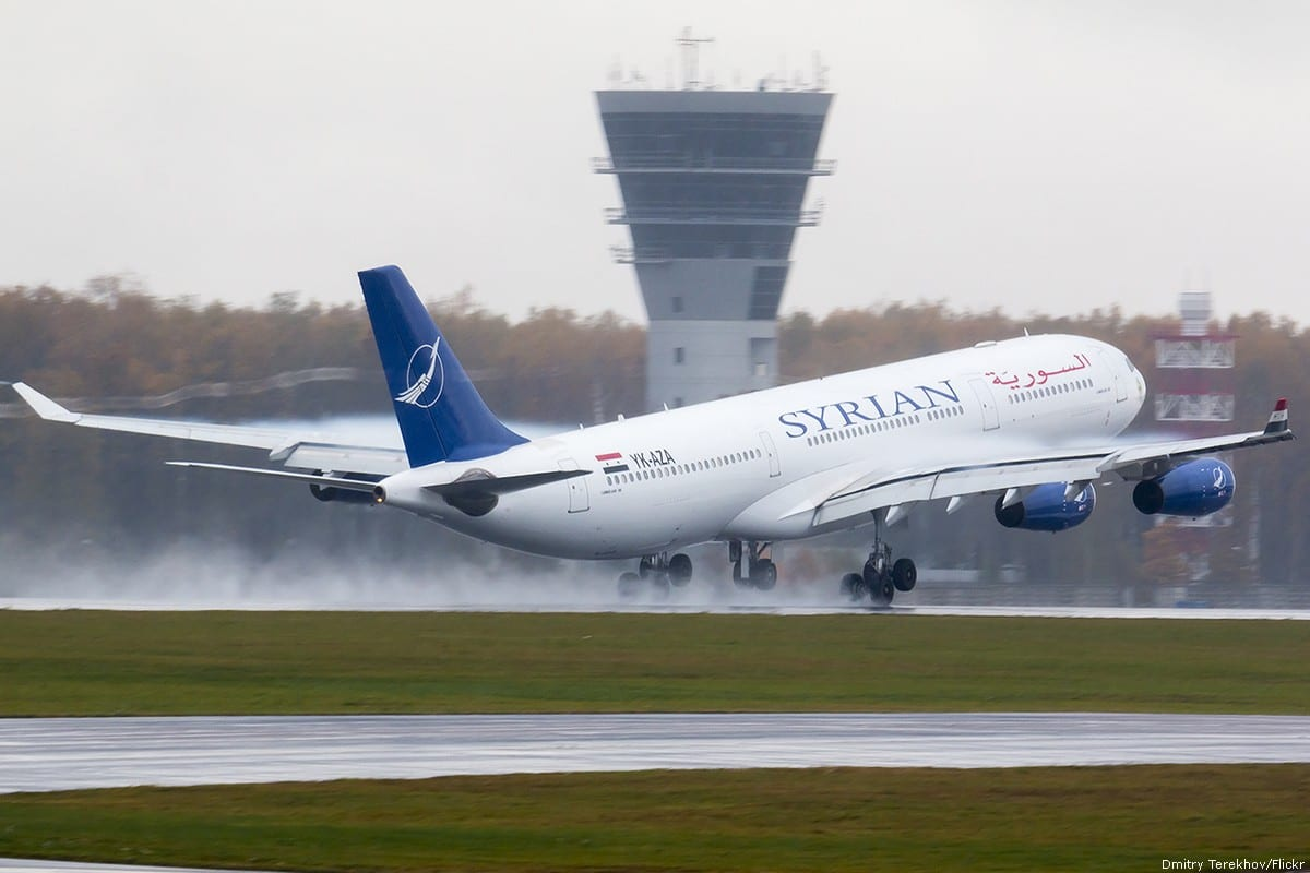 A Syrian Airlines plane seen during takeoff [Dmitry Terekhov/Flickr]