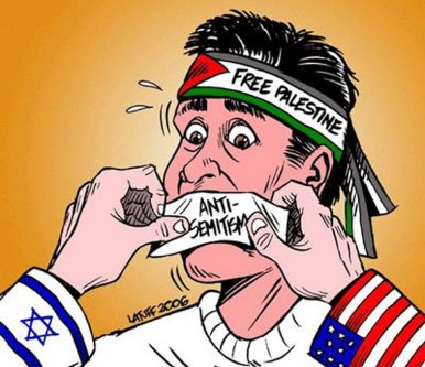 Cartoon - Criticisms of Israel labelled as antisemitism