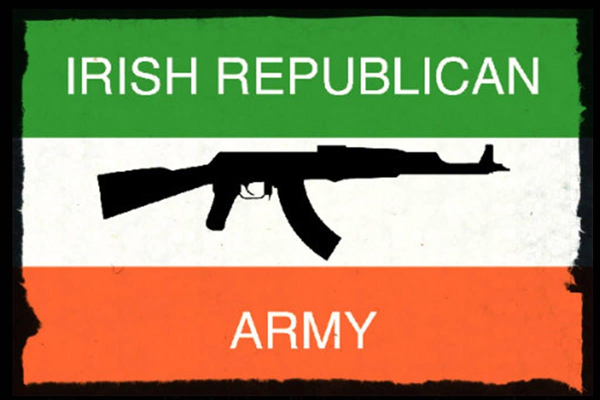 Irish Republican Army (IRA) Rifle Flag [Twitter]